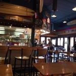 Inside looking toward salsa bar and counter