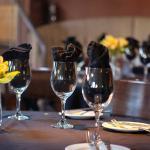 Elegant table settings, real linen napkins