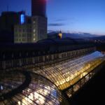 Blick auf Shopping-Center und Jenaer-Innenstadt