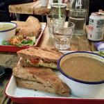 Soup and a Sandwich :-) Yum!