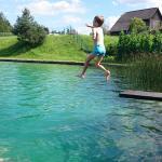 naturschwimmbad durch die sava gefüllt