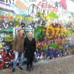 """During the tour at the """"John Lennon Wall"""""""