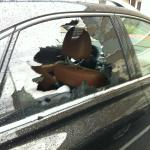 New showroom condition luxury vehicle window smashed!