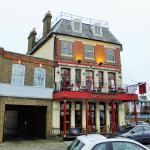 Cafe Rouge, Kew Bridge from the riverside.