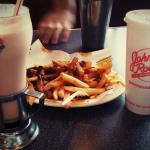 Johnny rockets(In destin) have the best chili fries and shakes! And I couldn't ask for better se