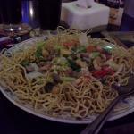 Sang mee or crispy noodles