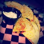 Veggie quesadilla (happy hour item)