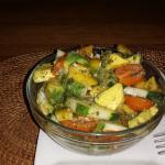 Vegan avocado, tomatoes and cucumber salad.  Very filling!