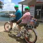 What a way to see Noosaville. Easy as! We hadn't ridden a bike for over 45 years!
