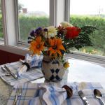 Breakfast in the sunroom