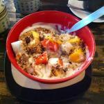 Best breakfast in Bangkok !  Muesli&fruit !