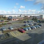 View from room overlooking car park