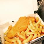 Delicious fish and chips ready for delivery