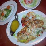 Langosta, camarones y pescado