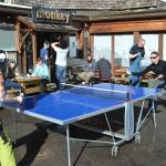 Nice out door table tennis in the sun