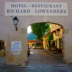 Welcoming entrance arch of Hotel-Restaurant