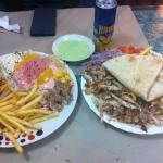 Chawarma plat et panini poulet