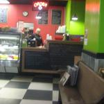Indoor seating and counter
