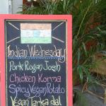 Indian Curry everday but Wednesday it's BIG