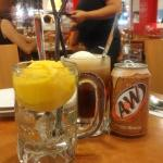 root beer float,mango shiver