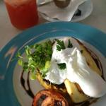 Bubble and Squeak, haloumi and poached eggs