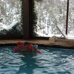 La piscina con sus vistas