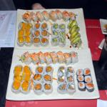 Lots of different sushi... Mango and Dynamite are the best