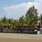Beach front view of Sunbloom Resort