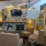 Cozy Lobby with Fireplace