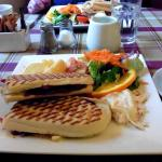 Bacon/cheese/cranberry panini