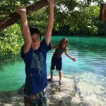 Playing at the beautiful casa cenote.