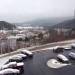 View from our room during the recent winter blast...normally, you can see Lookout Mountain.