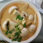 Coconut tofu soup