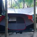 La tente à notre disposition