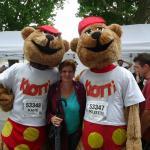 Klotti  beim Firmenlauf  in Koblenz