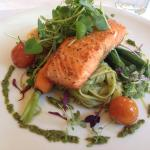 Delicious Ora King Salmon at Furneaux Lodge Restaurant