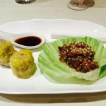Homemade pork dumpling & duck San choy bow. Perfect!
