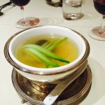 Chicken consume soup very light & tasty. Must have!!!