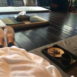 Post massage tea & biscuits