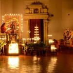 Gorgeously decorated oil lamps during Datta Jayanti celebration in December 2014