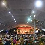 Thousands of people attending all night shivaratri program in February 2015