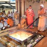 Homa /  Havan or fire offering is a very regular daily activity at Dattapeetham