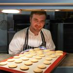 Adam preparing our shortbread biscuits