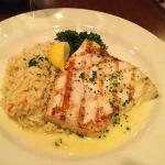 Lemon Swordfish, rice Pilaf & broccolini