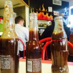 3 house-made BBQ sauces, served warm in cute Corona bottles :)