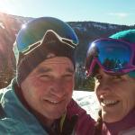 goat and lizard love to ski/travel!