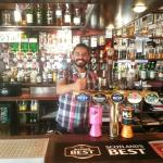 Ruben behind the bar