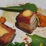Pork Belly on the plate