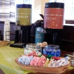 refreshment table greets the travelers