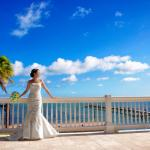 Beautiful Bride on Royal Palm Veranda